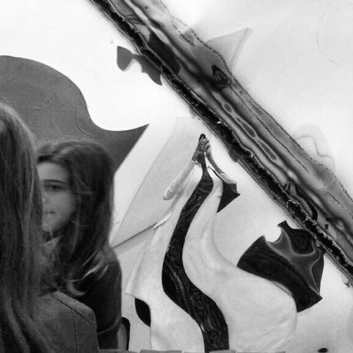 Art Arte Mirror Specchio Deformation Viso Face Nofilter Senzafiltro Senzafiltri ArtVerona Instaverona Blackandwhite Biancoenero