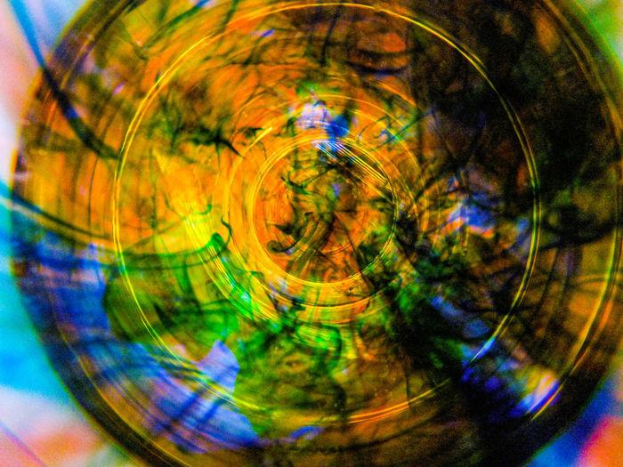 Close-up of multi colored bubbles