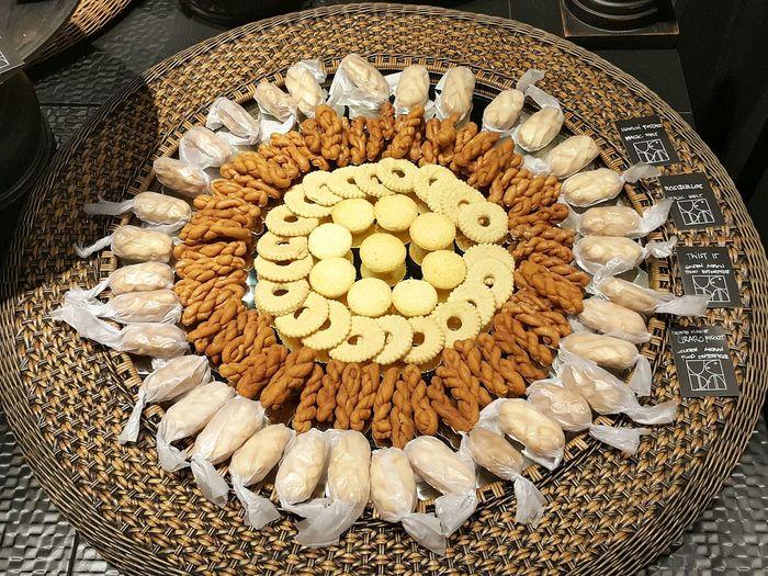 Sweet Food On Round Table