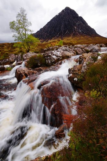 Glencoe glory Glencoe Scotland Nature Beauty In Nature Scenics Motion Tranquil Scene Tranquility Shades Of Winter Sky Cloud - Sky Waterfall Outdoors No People Water Mountain Day Landscape Tree Long Exposure Travel Destinations