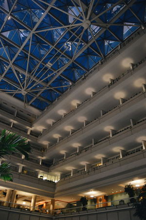 Ceiling Illuminated Indoors  Architecture Low Angle View Built Structure Travel Destinations Roof Night No People Sky