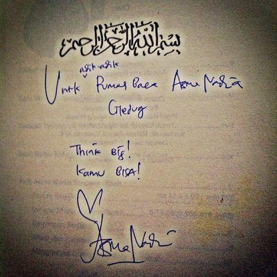 BukuOlasiKoala Tandatangan Penulis mba @asmanadia utk RBAciledug :) terimakasih bukunya mba @asmanadia :)