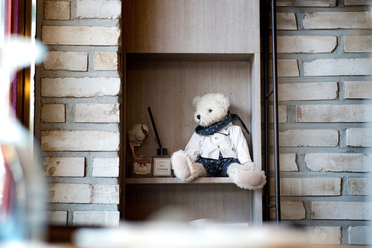 View of stuffed toy