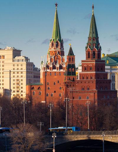 Buildings against in city