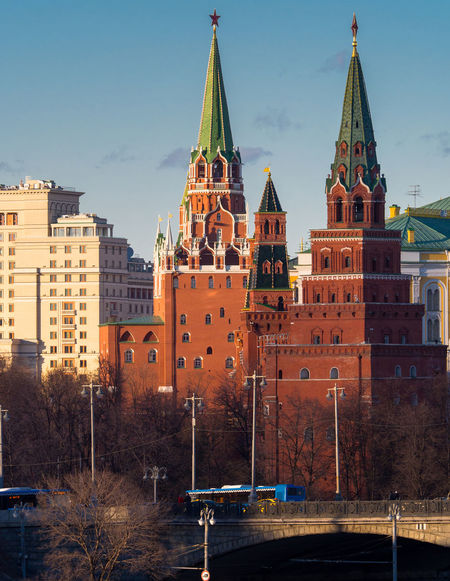 Russia, Moscow, the sunset, the Kremlin, the Moskva hotel Architecture Building Exterior Business Finance And Industry City Cityscape Day Moscow No People Outdoors Russia Sky The Kremlin The Moskva Hotel Tower