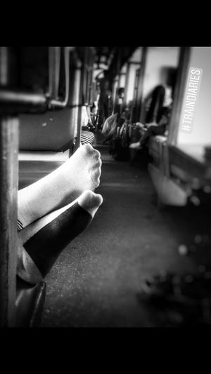 Train diaries.... Human Body Part Close-up People One Person Day Train Trainphotography Indiapictures Indiantrains Traveling Travel Sleeping Black And White Friday Eyemphotography EyeEm Best Shots EyEm Selects EyeEm Best Shots - Black + White