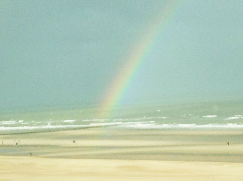 Rainbow Ostend Beach Sea Colors Nature Close-up No People Nice Nice View