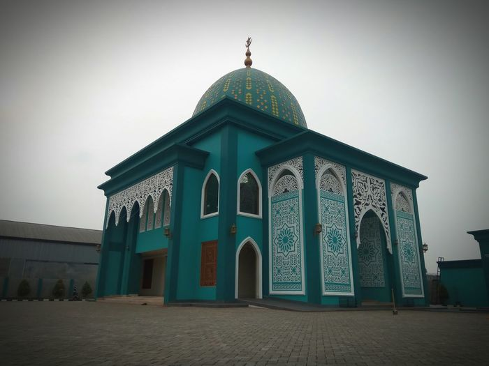 Architecture Mosque Mosque Photography Pastel Pastel Colored Pastel Power Exterior Exterior View in Jatiluhur Bekasi, Indonesia