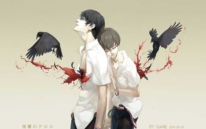 This is such a wonderful and beautiful picture! If I wasn't this tired I would analyze it... Anime Zankyou No Terror Mask Cool