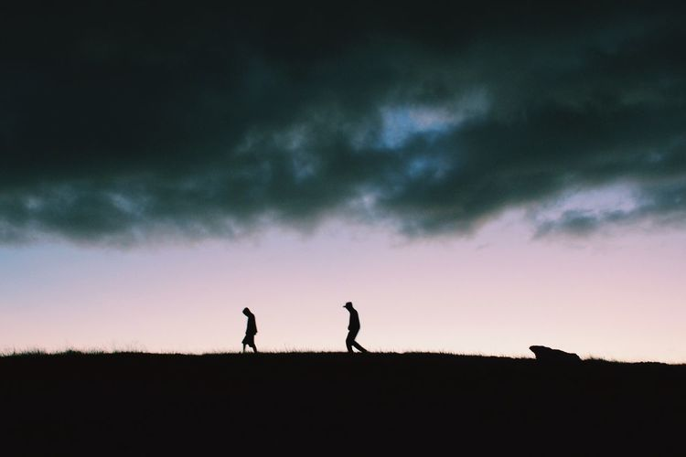 as we wander on Silhouette Dusk Dusk Colours Darkness And Light