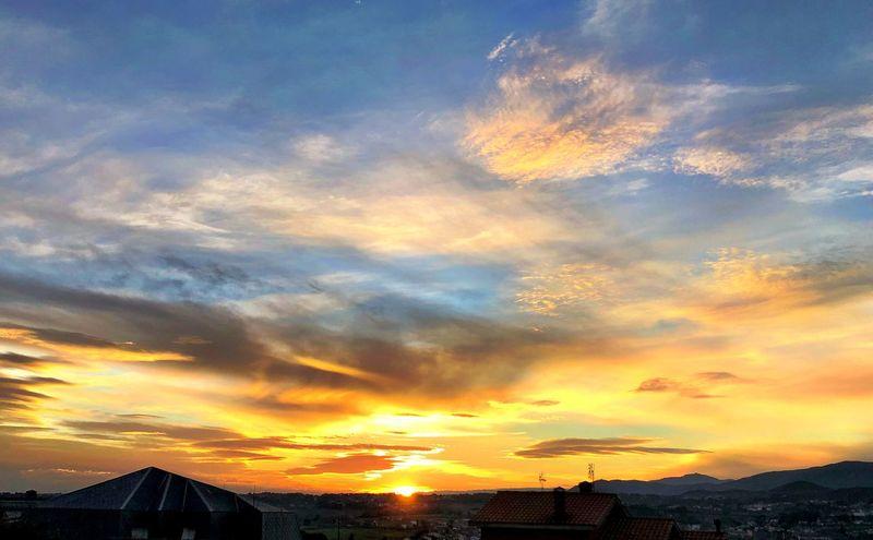 Sunset Cloud - Sky Sky Orange Color Beauty In Nature Dramatic Sky No People