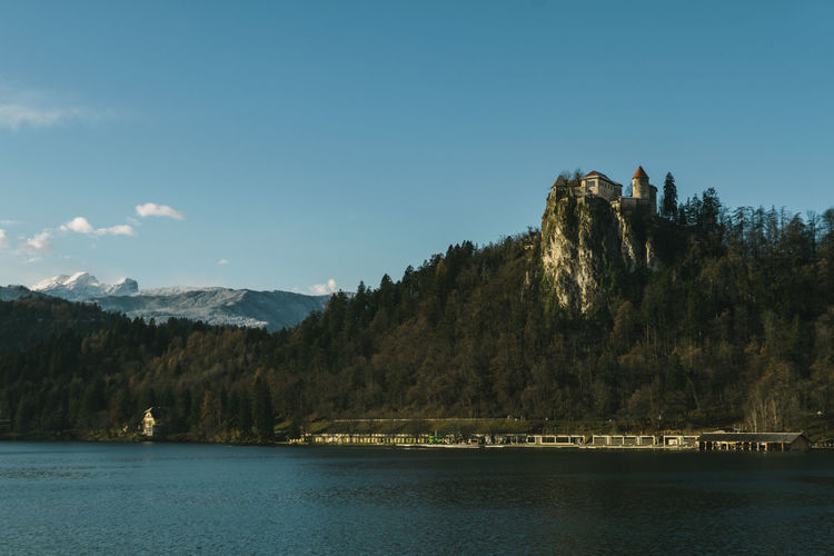 Castle Church Panorama Architecture Beauty In Nature Day Landscape Mountain Mountain Range Nature No People Outdoors Range River Scenics Sky Tranquil Scene Tranquility Tree Water Waterfront