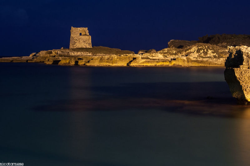 Night History No People Travel Destinations Moon Sky Architecture Scenics Outdoors Fort Medieval Astronomy Puglia Salento Salento Puglia Built Structure Nature Day Horizon Over Water Beauty In Nature Water Sea Italy Italia Nightphotography
