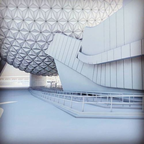 Epcot 3D model - northbound view at Spaceshipearth Epcot Epcot3D