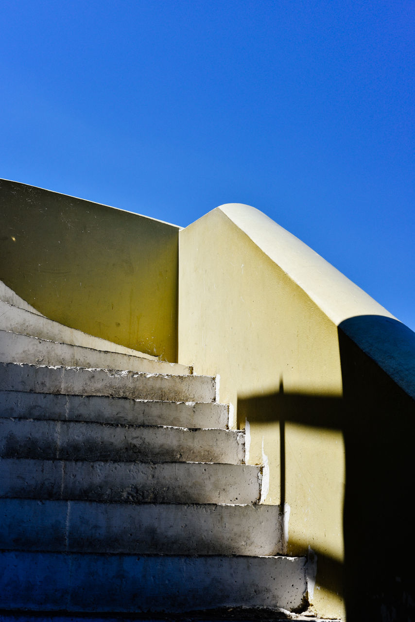 Empty Steps Against Clear Blue Sky
