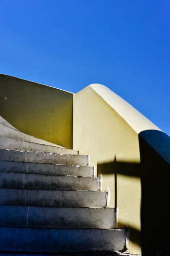 Low angle view of stairs leading to building