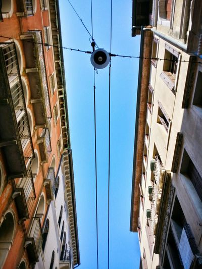 Learn & Shoot: Balancing Elements Treviso Italy Travel Photography Travel Traveling Mobile Photography Art Fineart Looking Up Parallel And Converging Lines Architecture Historical Buildings Architectural Heritage Street Lighting Mobile Editing