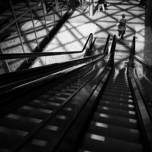 Escalator on escalator