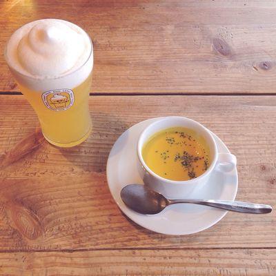 Food Food Porn Foodporn Enjoying A Meal Beer Soup Japan ビール スープ ランチ