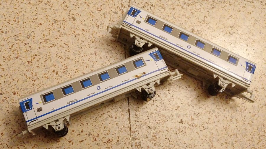 EyeEm Selects High Angle View No People Transportation Day Train Toy Toy Train Blue White Wagons