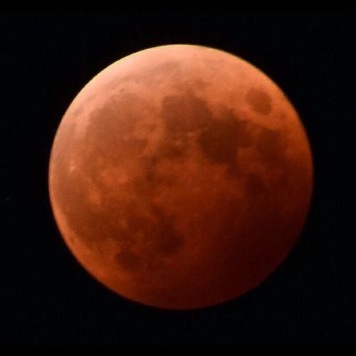 月 風景 皆既月食