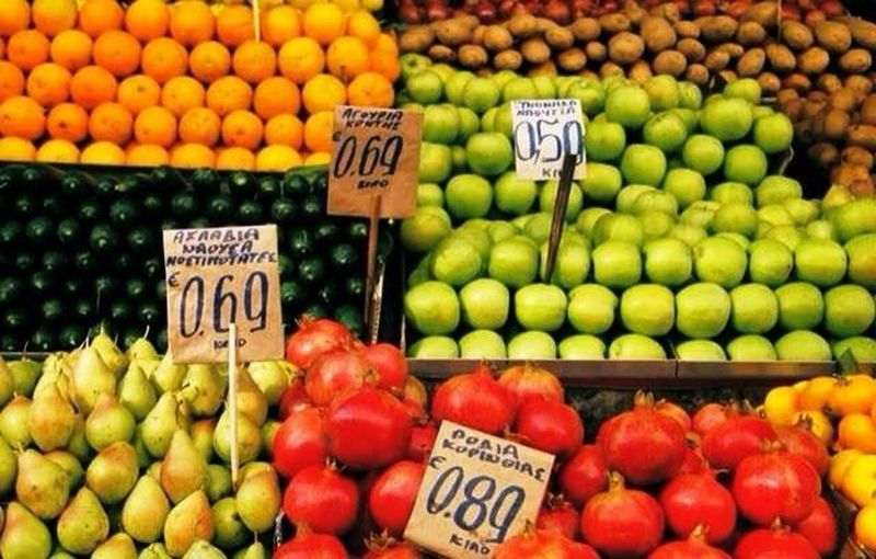 Food Market in Greece. Food Market Market Colorful Colors Prices Fruit Price Tag Market Healthy Eating Market Stall Food And Drink Freshness Vegetable Food For Sale No People Food Stories