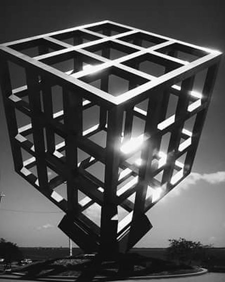 The Architect - 2016 EyeEm Awards Cube Centerofattraction Photography Square Light And Shadow Unique Cubicle Center Attraction Blackandwhite Shine Steel Cubic Steel Design Unique Style