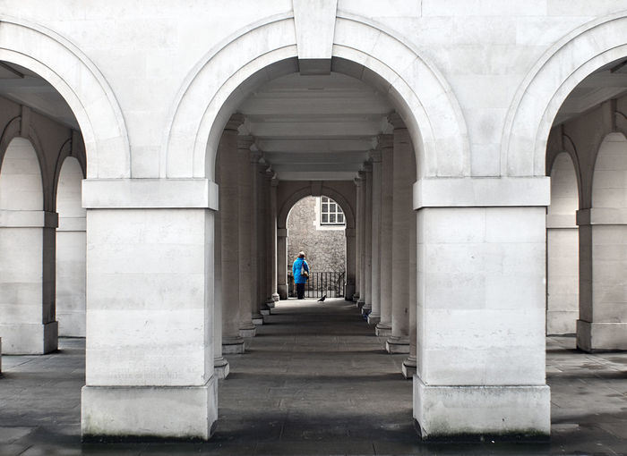 EyeEm LOST IN London Adult Arch Architectural Column Architecture Building Exterior Built Structure Day Full Length Indoors  Leisure Activity Lifestyles Men People Real People Rear View The Way Forward Walking Women An Eye For Travel