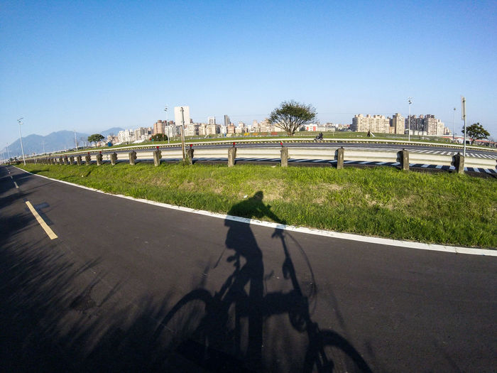 Bike Biking City Life Clear Sky Daily Project Day Exercise Exploring EyeEm Gallery Grass Nature Outdoors Real People Riverside Road Shadow Sunlight Taking Photos The View And The Spirit Of Taiwan 台灣景 台灣情 Gopro Gopro Session Bicycle Let's Go. Together. Sommergefühle