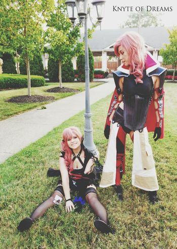 My friend and I Cosplayed Lightning and Lumina from Final Fantasy Lightning Returns.