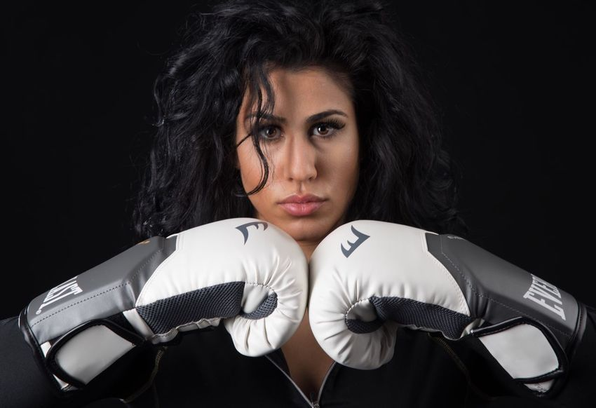 Finnish boxing champion, lovely Sabriin Basim Looking At Camera One Woman Only Studio Shot Portrait Sport Young Adult Adults Only Black Background Only Women Women One Young Woman Only One Person Young Women Adult Beauty People Close-up Boxing Boxer Champion Sport