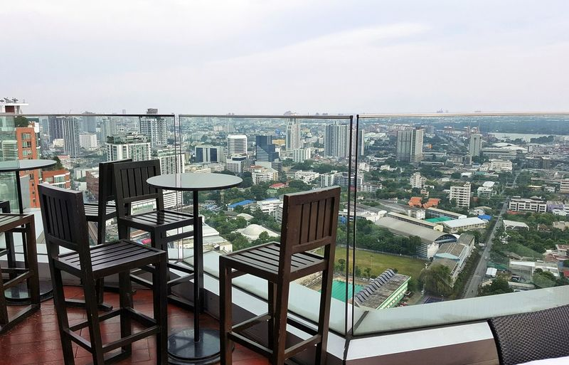 Sky City Sea Outdoors Balcony No People Day Nature Cityscape Bangkok Thailand Reastaurant Restaurants In Summer Blue Sky Office Downtown Beauty In Nature Vacations Nature Top View Baconyview Summer Daylight Lifestyles Sunny Day