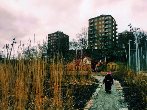 Leading the way to new adventures! Kidsphotography Adventure Sky And Clouds Sweden Walking Around Urban Nature