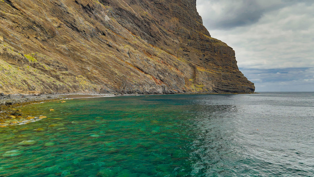 Blue Calm Cliff Day Daylight Daytime Idyllic Masca Valley Mountain Nature Non-urban Scene Ocean Outdoors Rock - Object Rocky Rocky Mountains Sea Shore Sky SPAIN Summertime Tenerife Water Waterfront Wave