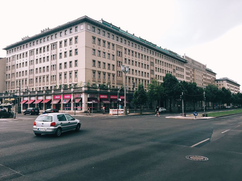 Streetphotography Street Car Berlin Avenue Turn Left