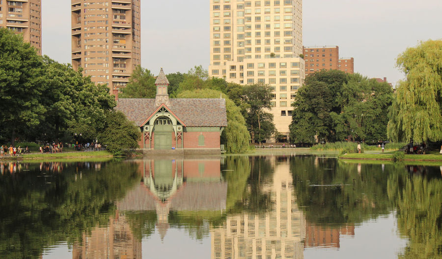 Scenic View Of Lake At Park In City