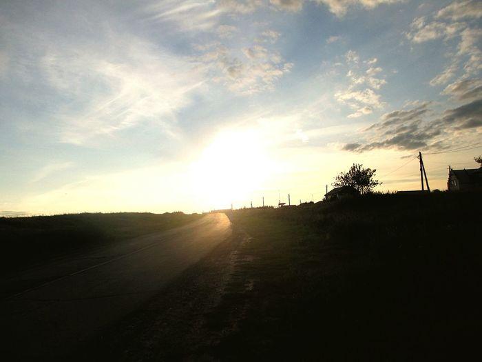 небо облака нежность красота Природа Beautiful Nature No People наедине с природой Beauty In Nature дорогадомой прекрасный вечер вечер Evening