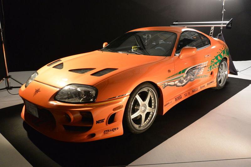 Car Indoors  Japanese Car Movie Cars Orange Color Paris International Motor Show 2016 Supra The Fast And The Furious Toyota Toyota Supra