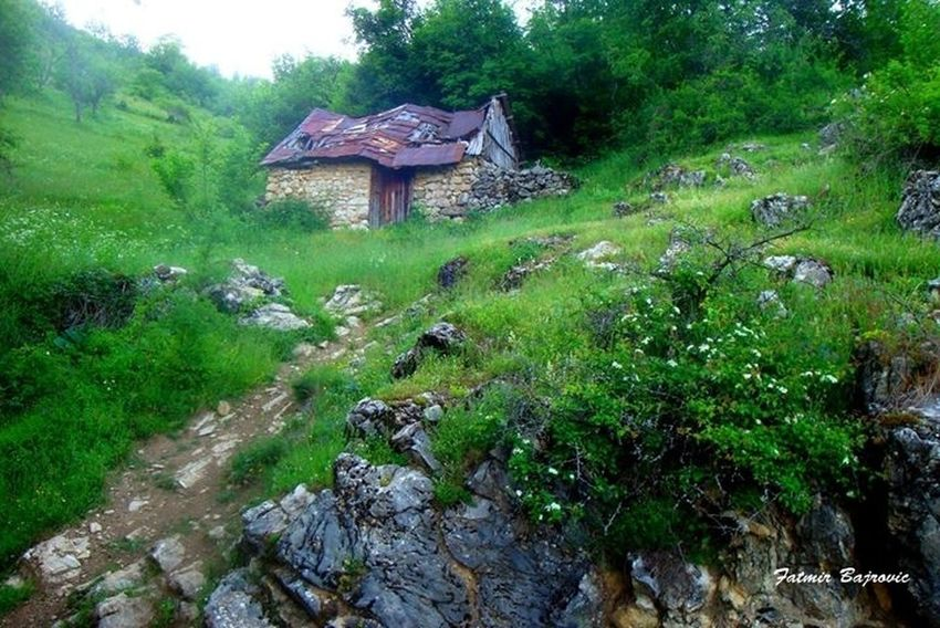 Old house Architecture Beauty In Nature Built Structure Day Grass Green Color Growth Hill House Idyllic Landscape Mountain Nature No People Non Urban Scene Non-urban Scene Outdoors Plant Remote Rock - Object Scenics Sky Tranquil Scene Tranquility Tree