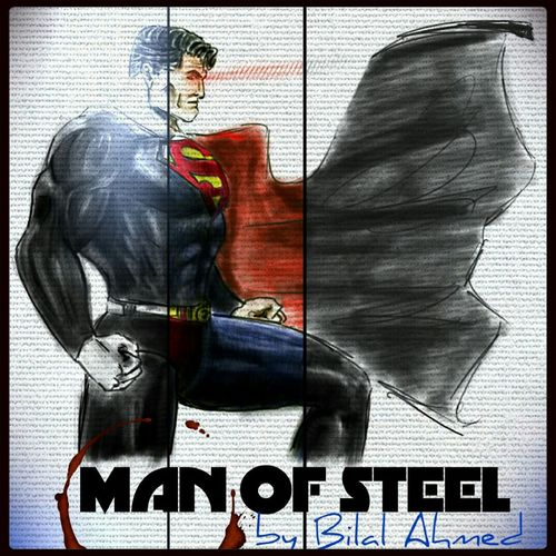 We all have our idols, mine just so happens to be a superhero! Drawing enjoy! Superman <3 Art