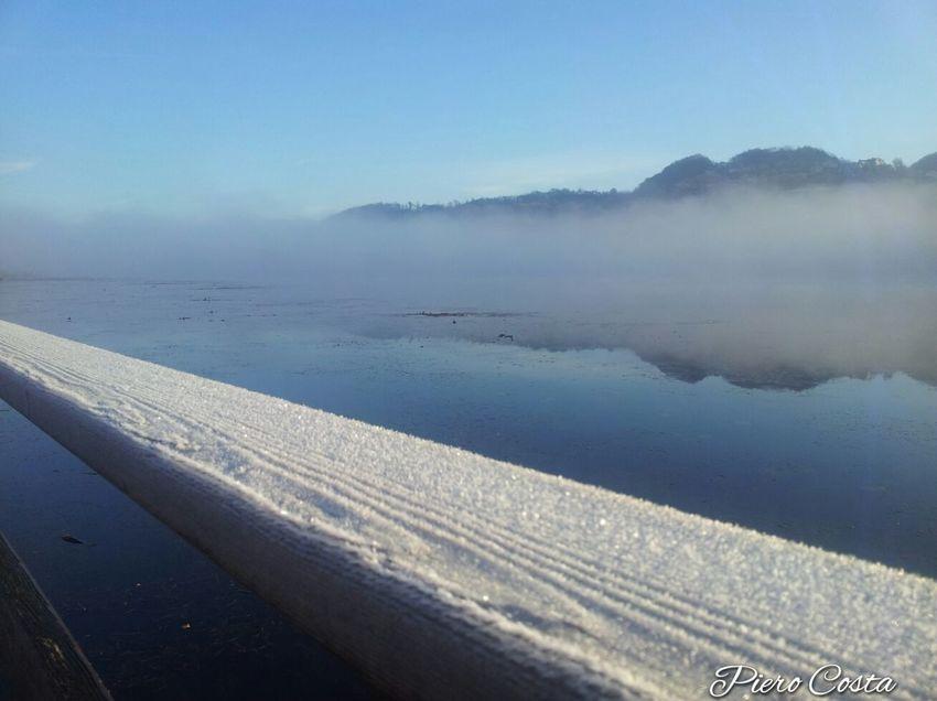 Lago Lake Natura Nature Alba Sunrise Paesaggio Landscape Handrail  with Ice