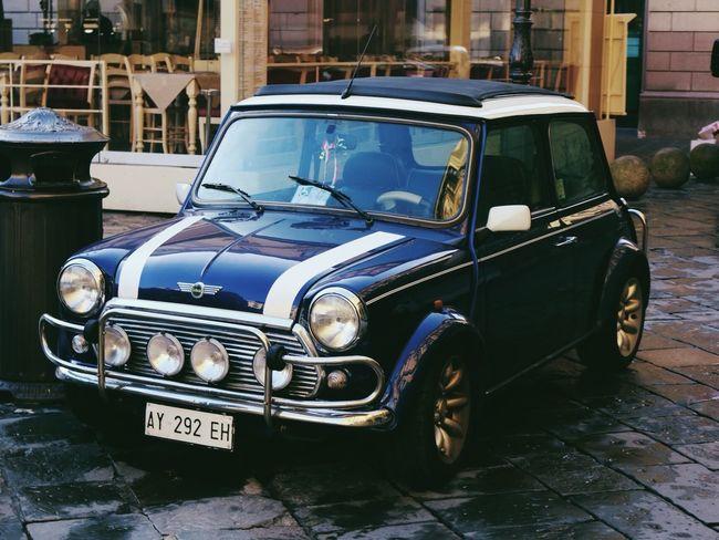 Mini Blue Vintage Car