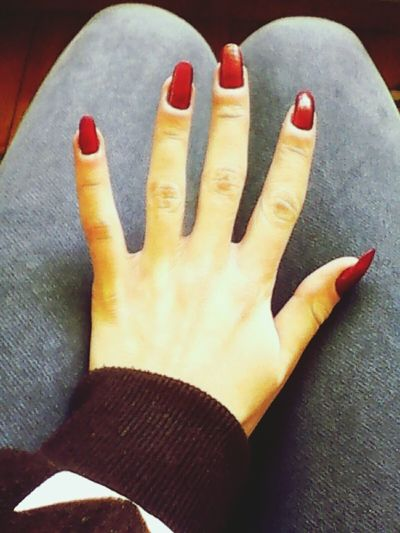 New Nails My Love Red Nails ✌  ♥ ∞ † ▲ Happy :)