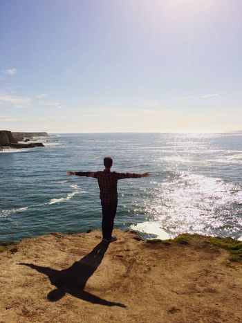 Pacific Ocean as if I were a Bird Beautiful Nature Everyday Joy Feel Free Cliffs