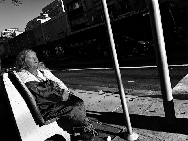 Soaking up the rays. Streetphotography IPhoneography Sacramento