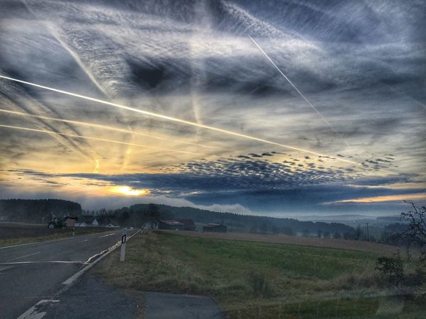 Sky Cloud - Sky Nature Landscape Beauty In Nature Road Sunset Fichtelgebirge Natural Beauty Nature Nature Lover Sunset at Walpenreuth