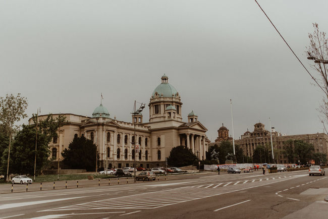 Belgrade Belgrade,Serbia Cloudy Serbia Wedding Photography Architecture Building Exterior City Day Outdoors Parlament Parlament Of Serbia Pastel Belgrade Pastel Colors Serbia Parlament Wedding Day