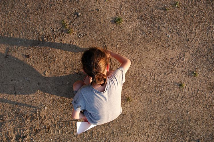 Dante From Above  Writing On The Sand Summer Elementary Age Full Length Shadow Sand Childhood Sunlight barefoot High Angle View Children Preschooler