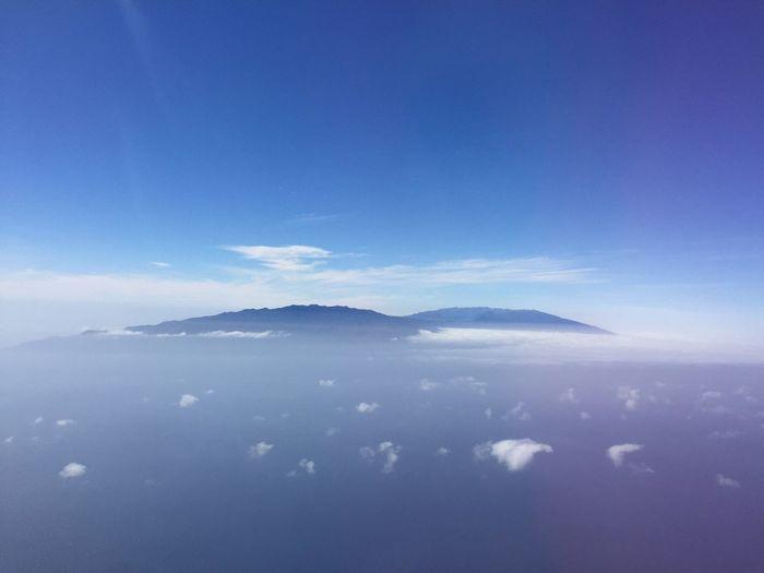 Insel im Irgendwo... Insel Tenerife Teide Meer Wolken EyeEm Best Shots Atlantic Ocean Nature Silhouette Sky Tranquility Cloud - Sky Blue La Palma, Canarias Lost In The Landscape