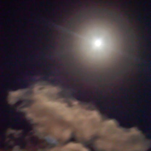 Moon Ay Light Isik night gece clouds bulut space universe uzay